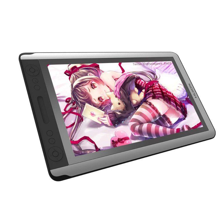 HUION液タブ Kamvas 16 15.6インチ 液晶ペンタブレット傾き検知機能 筆圧8192充電不要ペン